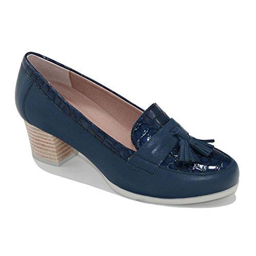 Copete azul con borlas de Pitillos,modelo 1041.