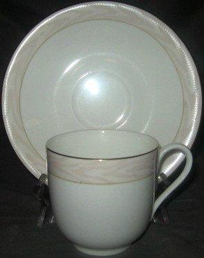 Mikasa Silk Moire CAG01 Cup & Saucer Set