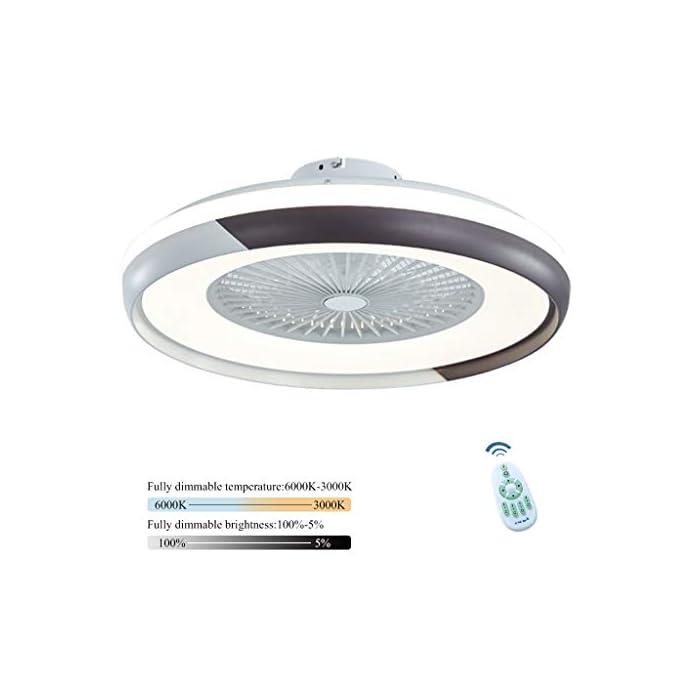 412Ka4H I5L ✔ El ventilador es muy silencioso ✔ Para el ventilador utilizado en el dormitorio, puede configurar tres velocidades de viento diferentes utilizando el control remoto inteligente. La luz del ventilador tiene un deflector ajustable. Puede usar el control remoto incluido para controlar. Se puede instalar en un techo inclinado. Muy solido y confiable ✔ Material ✔ Pantalla de acrílico transparente alta, temperatura dura y alta, carcasa de pintura mate, aspas de ventilador ABS duraderas y transparentes, todos los motores de cobre, permiten que la lámpara del ventilador funcione de manera suave y silenciosa, 40 W, diámetro 50 cm, Peso neto: 4,6 KG ✔ Fuente de luz LED de alta calidad ✔ Nueva fuente de luz de lente LED, luz suave, sin deslumbramiento, sin interferencia de alta frecuencia, sin observación estroboscópica, por lo que puede proteger los ojos y el cerebro, ahorrar energía en más del 80%, brillo suficiente, baja potencia