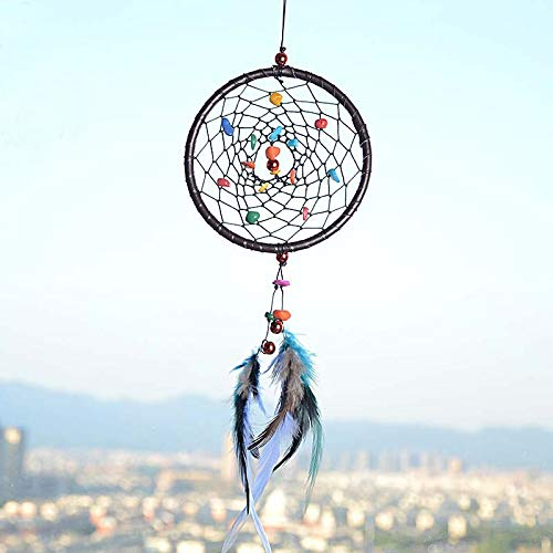- Wind Chimes & Hanging Decorations - Indian Style Feather Pendant Dream Catcher Hanging Ornament Wind Chimes With Natural Stone Creative - Prayer Percussion Tone Agate Large Unicorn Copper