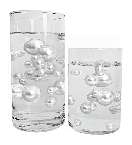 No Hole White Pearls - Jumbo/Assorted Sizes Vase Decorations - to Float The Pearls Order The Floating Packs from The Options ()