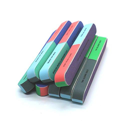 8PCS Nail Files and Nail Buffer Block Manicure Pedicure Kit