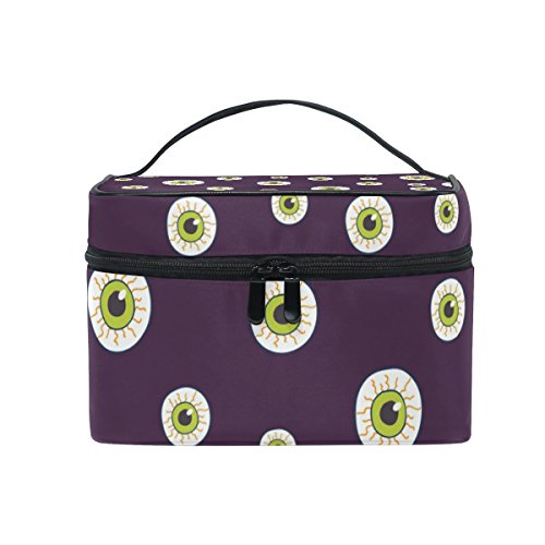 (Cosmetic Bag Case Halloween Trick Or Treat Devil Eyes Toiletry Makeup)
