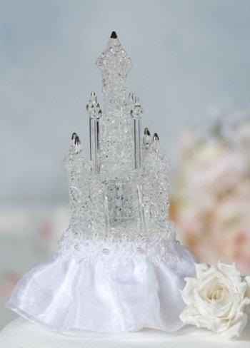 Wedding Collectibles Cinderella Castle Cake Topper: Skirt Color: White - Wedding Cake Topper Cinderella
