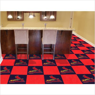Fan Mats St Louis Cardinals Carpet Tiles, 18