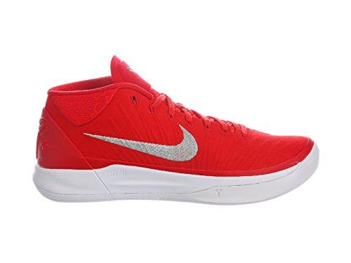 Nike Mens Kobe A.D. University Red/Metallic Silver/White Nylon Basketball Shoes 10 D(M) US ...