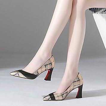 Jqdyl High Heels Frauen Singles Schuhe Frühling Mode Flacher