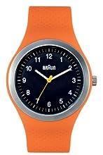 Braun BN0111 - Reloj (Reloj de Pulsera, Acero Inoxidable, Acero Inoxidable, Silicona, Naranja, Mineral)