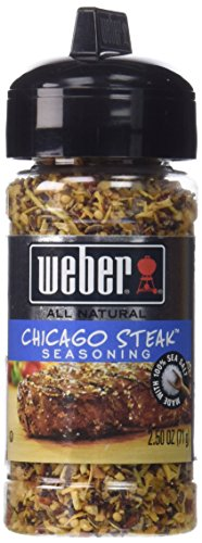 WEBER Grill CHICAGO STEAK Seasoning 2.5 oz. (Pack of 2)