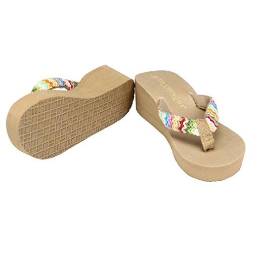 Sandalias para Mujer, RETUROM Sandalias vendedoras calientes de la playa de la plataforma del verano marrón