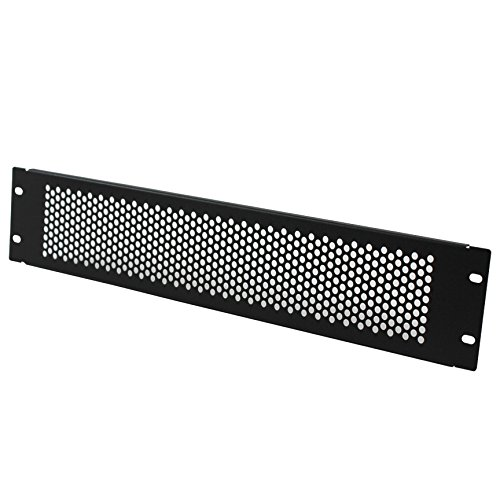 Navepoint 2U Blank Rack Mount Panel Spacer With Venting For 19-Inch Server Network Rack Enclosure Or Cabinet Black by NavePoint