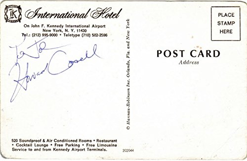 (Howard Cosell Signed - Autographed 4x6 inch postcard - Sports journalist and Broadcaster - Deceased 1995)