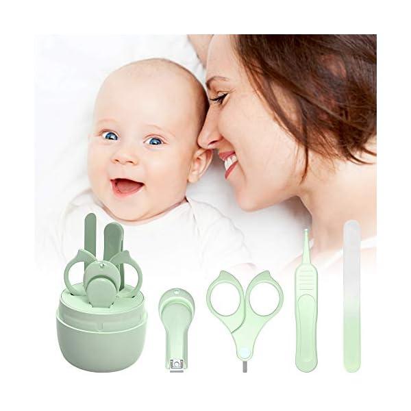 Set Manicure Neonati| Kit 4-in-1 per Baby, con Forbicine, Tagliaunghie, Lima e Pinzetta in Custodia con Gufo | Sicuro… 7