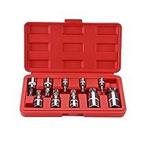 "OCGIG 10 Pcs XZN Triple Square Spline Bit Socket Set Kit 3/8"" 1/4"" 1/2"" Drive 4mm-18mm With Storage Case,S2 Steel"