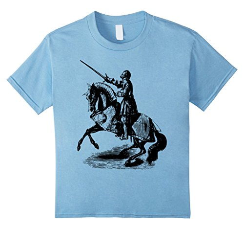 Kids Knight In Suit of Armor Horse Sword Helmet Medieval T-Shirt 8 Baby (Suit Of Armor Helmet)