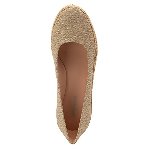Easy Spirit Womens Dellina Espadrille Natural Fabric