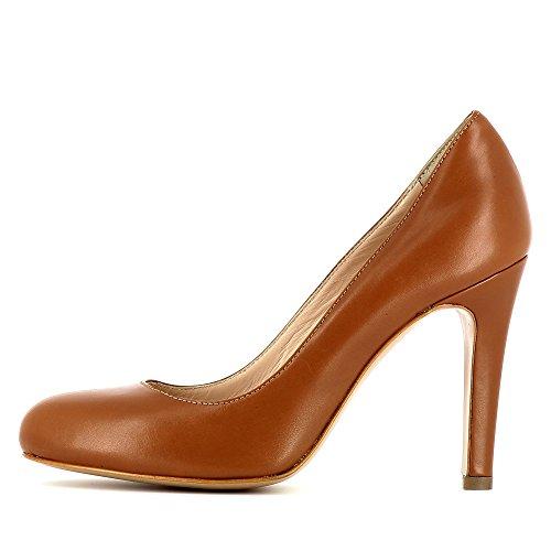 Evita vestir Zapatos mujer Cristina de Piel coñac Cristina mujer Zapatos de para 6094d0