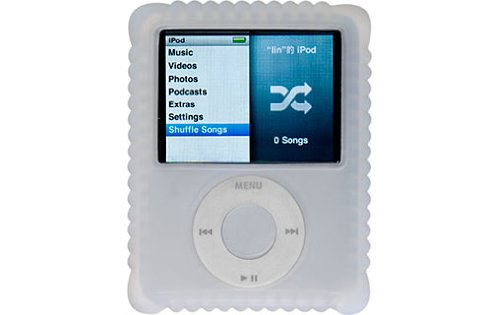 Switcheasy Silicone Biscuit Case for iPod Nano 3G- Color White (3rd Ipod Case Generation Nano Dlo)