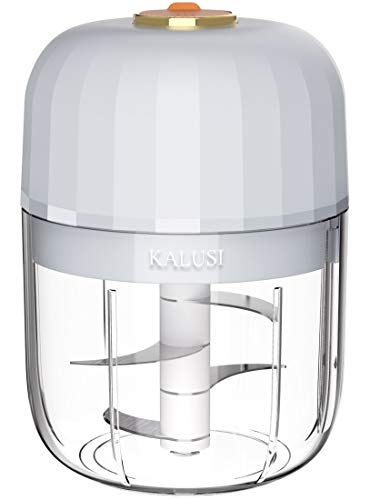 KALUSI Mini Food Processor, Waterproof, Electric, Wireless, Rechargeable, Portable, For Garlic Fruits Vegetables Meats