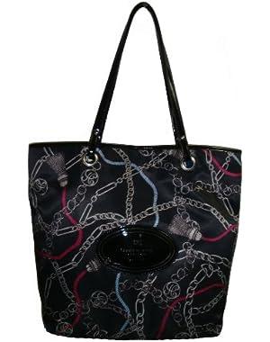 Women's Tote Handbag, Large, Black