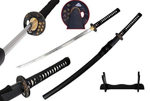 Traditional Japanese Handmade Sharp Katana Samurai Sword with Scabbard (Samurai Tsuba)