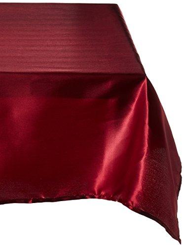 Satin Burgundy Overlay (LinenTablecloth 60-Inch Square Satin Overlay Burgundy)