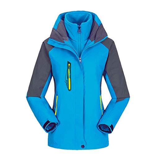 Veste De A En Femme Pour Bleu Interne Capuchon Huifang Respirante Amovible Plein Air D'hiver Sport Avec BqUxnwTf
