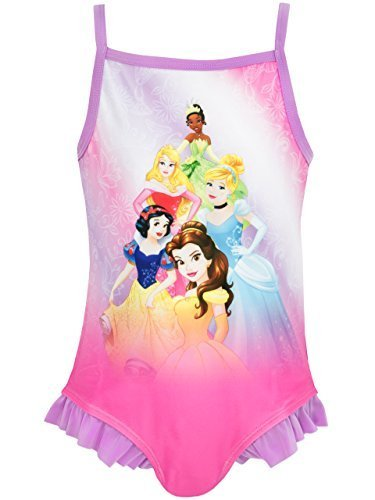 Disney Princess Girls' Disney Princess Swimsuit 4 (Piece Swimsuit Disney One)