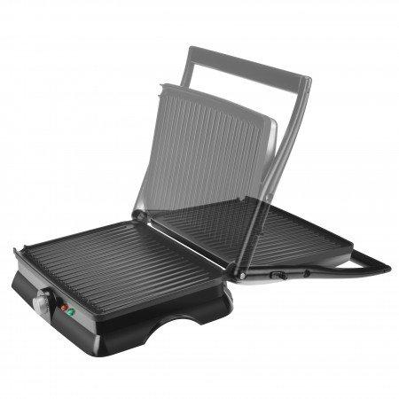 Premium Ppn40 4 Slice Panini Maker Silver Black