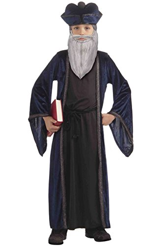 Famous Prophet Philosopher Nostradamus Child Costume (M) (Greek Philosopher Costume)