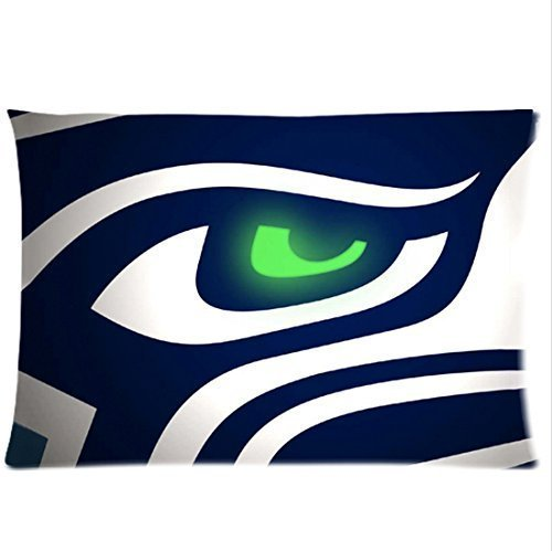 - Bedroom Decor Custom American Football Seahawks printing Pillowcase 20x36 Twin sides Zippered Rectangle PillowCases Throw Pillow Covers