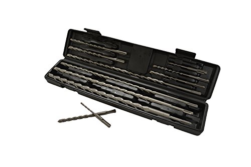 SAE SDS Hammer Drill Bits (11 Piece Set) by EZ Travel Collection
