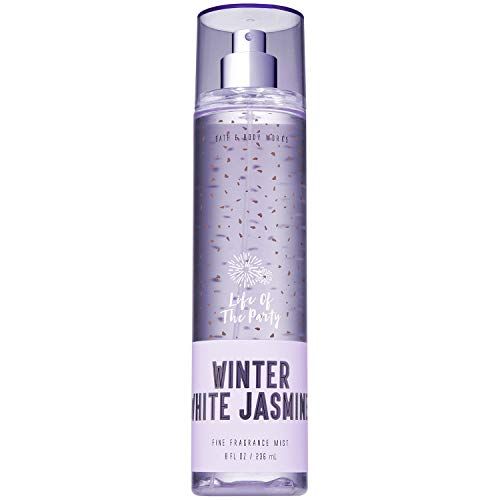 Bath and Body Works WINTER WHITE JASMINE Fine Fragrance Mist 8 Fluid Ounce (2018 Limited Edition) ()