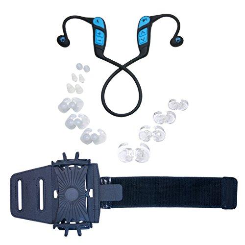 Gripi Armband with Waterproof Bluetooth Headphones by Underwater Audio
