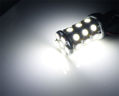 iJDMTOY 27-SMD-5050 Bi-Color White/Amber 3157 3357 3457 4157 Switchback LED Bulbs For Front Turn Signal Lights