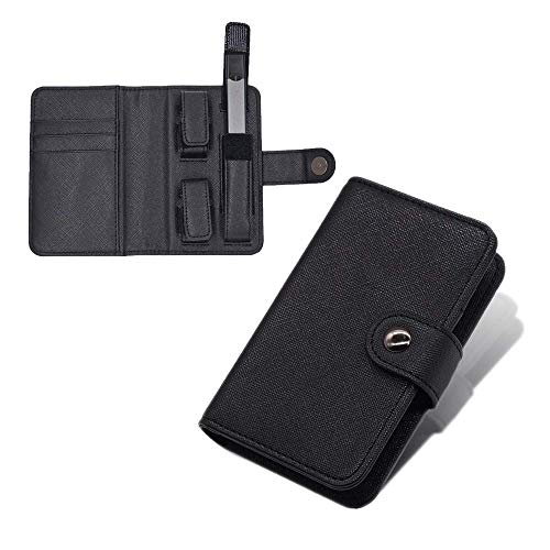xJazxin Juul Case Leather Portable Vape Holster Wallet Bag for The JUUL Smoke Fit Kit with Card Slots for Your Cartridges and Cards