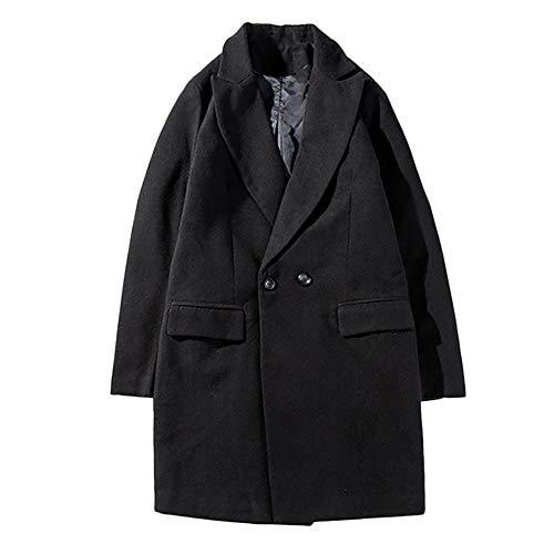 Gold Blazers Nike (Moserian Coat Men Autumn Winter Warm Trench Long Outwear Button Overcoat)