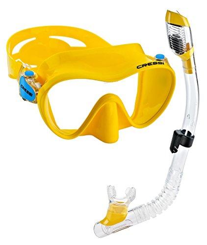 Cressi Junior Frameless Mask Dry Snorkel Set (Cressi Scuba Set)