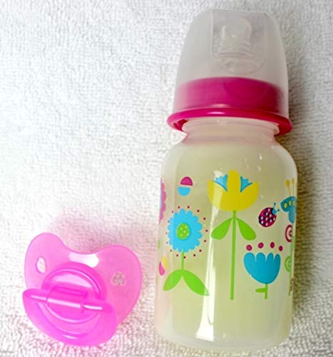 Reborn Sealed Flower Lady Bug Bottle Fake Formula Milk with Matching Modified Putty Pacifier Baby OOAK Doll Girl