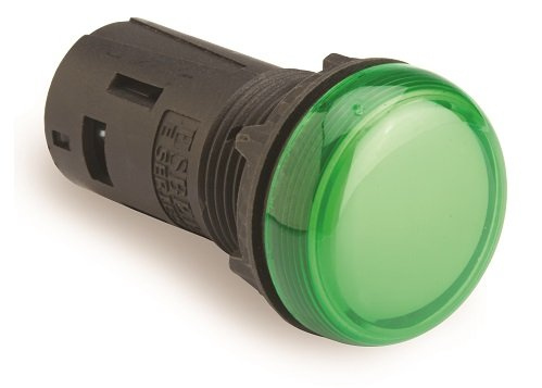 Entegral LED Indicating Light, 22mm, GREEN 110V AC (Indicating Light)