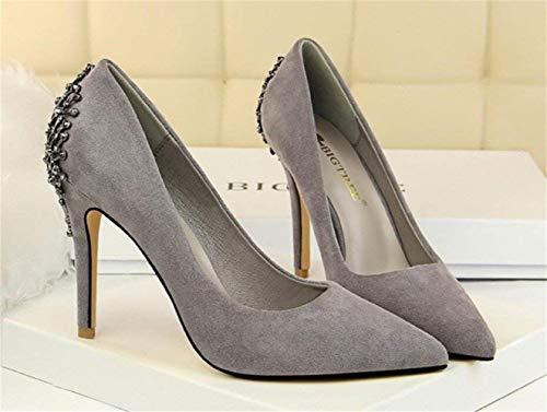 3d8fdcdeecbd Daim Talons Filles Gris Talon De En coloré Aiguille Modernes Mariée 39 Plateforme  Féminines Mariage Fête Eu36 Marron Hauts Sandales Femmes Chaussures Club ...