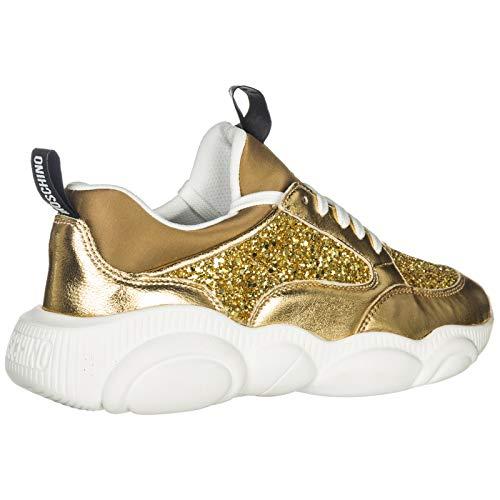 Zapatillas Oro Teddy Mujer Deportivas Moschino gaOwUqx5wn