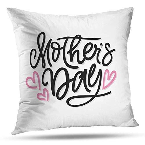 - Kayel Interior Decoration Pillowcase Greeting Mother Day Brush Celebrate Flyer for Bedroom Sofa Iiving Room Cushion Pillowcase Home Decoration 18x18 Inch