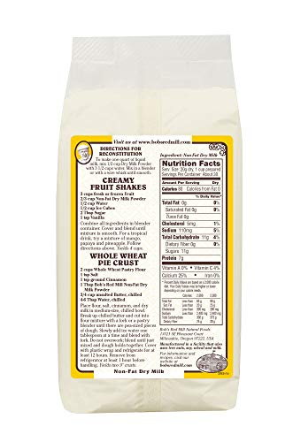 Bob's Red Mill Non-Fat Dry Milk Powder, 22 Oz (4 Pack) by Bob's Red Mill (Image #1)