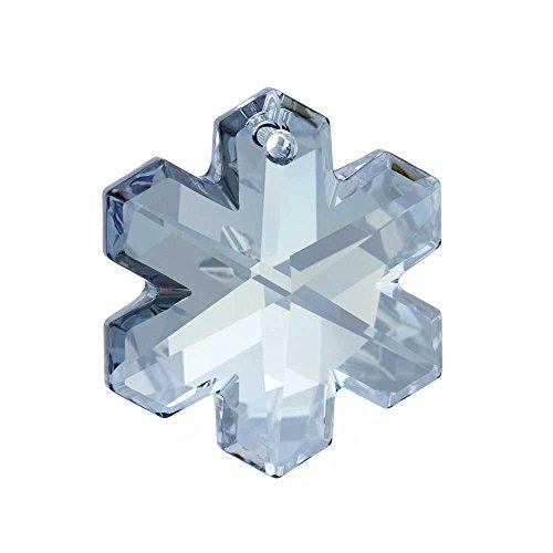 Swarovski Crystal, 6704 Snowflake Pendant 20mm, 1 Piece, Crystal Blue Shade
