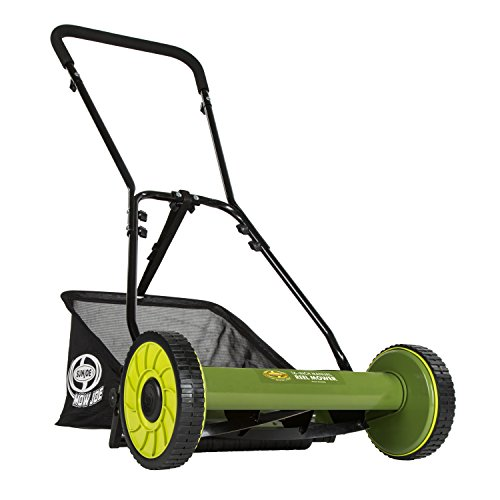 Sun Joe MJ500M Manual Reel Mower w/Grass Catcher | 16 inch (16 Inch Reels)