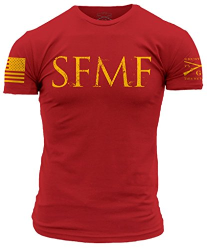 Grunt Style SFMF Men's T-Shirt, Color Red, Size Large by Grunt Style