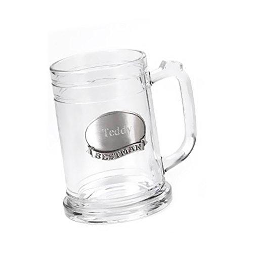 Personalized JDS Gifts Pewter Medallion Glass Mug 16 oz ()