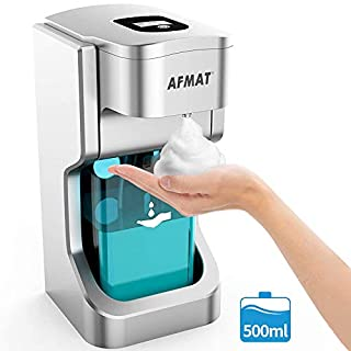 LivTech Touchless Soap Dispenser, 500ml Automatic Foaming Soap Dispenser, Battery Operated Countertop Soap Dispenser with Infrared Motion Sensor, Waterproof, Large Capacity
