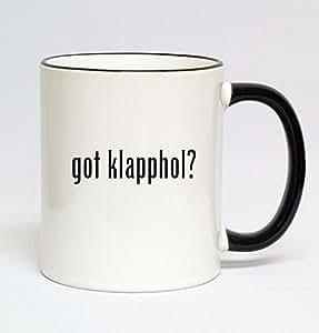 11oz Black Handle Coffee Mug - got klapphol?